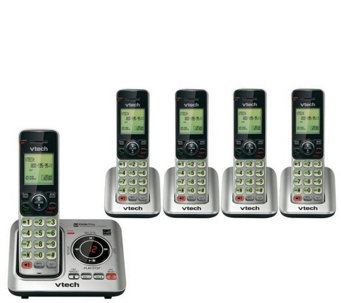 Vtech Five-Handset Cordless Answering System w/Caller ID - E286901