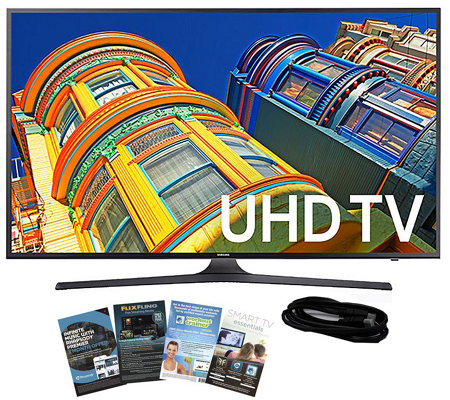 "Samsung 60"" Smart LED 4K Ultra HDTV with HDMI Cable & App Pac"