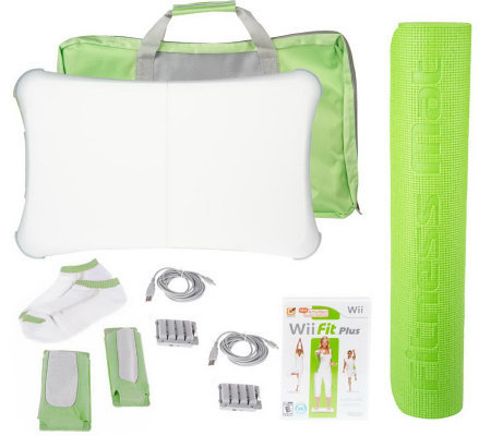 Nintendo Wii Fit Plus & Accessory Kit with Mat and Balance ...