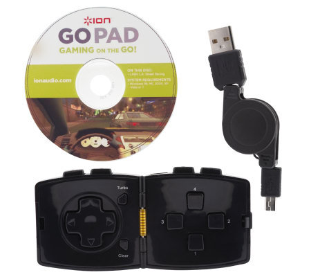 Ion Go Pad Handheld Travel Gaming Controller with Asteroids Game
