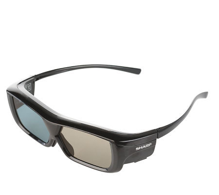 Sharp Active Shutter 3D Glasses w/ Rechargeable Battery