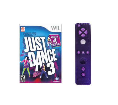 Nintendo Wii Just Dance 3 Bundle w/ 1 Color Plus Remote
