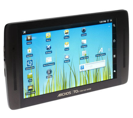 "Archos 7"" Color 8GB WiFi Tablet Android 3.2 Honeycomb OS with App Bundle"