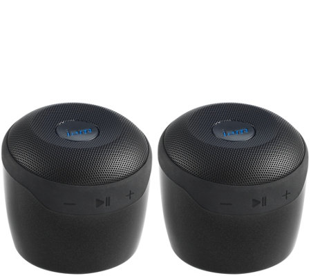 speakers in amazon. set of 2 jam voice bluetooth and wifi speakers w/ amazon alexa in