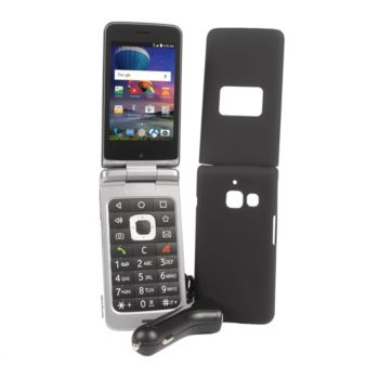 TracFone ZTE Cymbal T LTE Flip Phone with 1 Year Service & Accessories