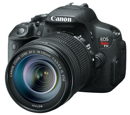 Canon EOS Rebel T5i 18MP DSLR Camera w/ EF-S 18-135mm Lens