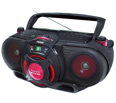 Naxa Portable MP3/CD Player w/ Radio Cassette Player/Recorder