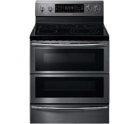 Samsung 5.9 Cu. Ft. Flex Duo Electric Range - Black Stainless