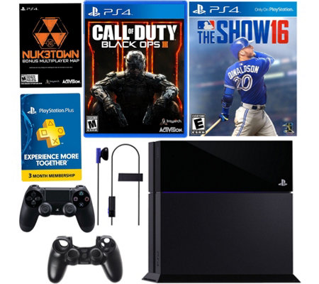 Sony PS4 500GB Call of Duty Bundle w/ MLB The Show 16 & Accs.