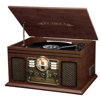 Victrola Classic 6-in-1 Wooden Turntable with Bluetooth