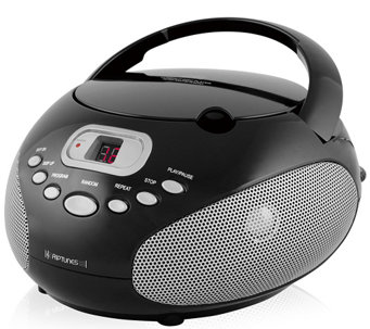 Riptunes Portable CD Player with AM/FM Radio &Aux Input - E284303