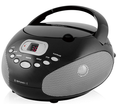 Riptunes Portable CD Player with AM/FM Radio &Aux Input