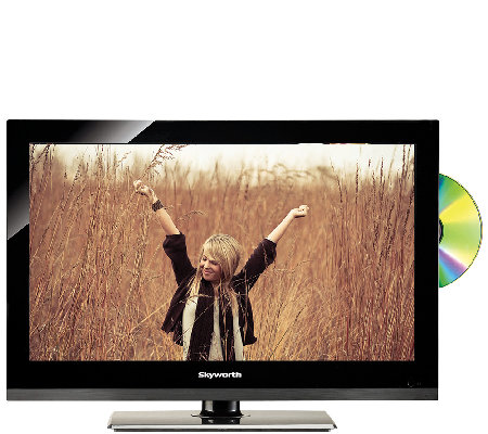 "Skyworth 15.6"" LED TV with Built-in DVD Player"