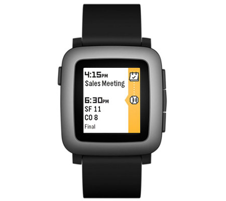 Pebble Time Smartwatch Compatable with iOS & Android