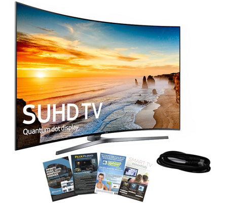 "Samsung 65"" Class LED Curved SUHD TV with App Pack, HDMI Cabl"