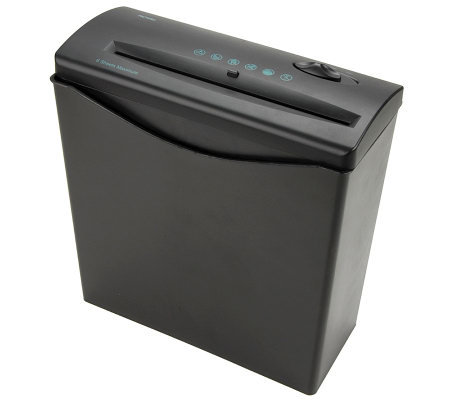 Royal 6-Sheet Strip-Cut Shredder with Basket