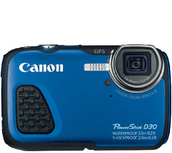 Canon Powershot D30 12.1 Megapixel Waterproof Digital Camera - E227504