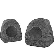 Innovative Tech Set of 2 Bluetooth Outdoor Rock Speakers - E230704