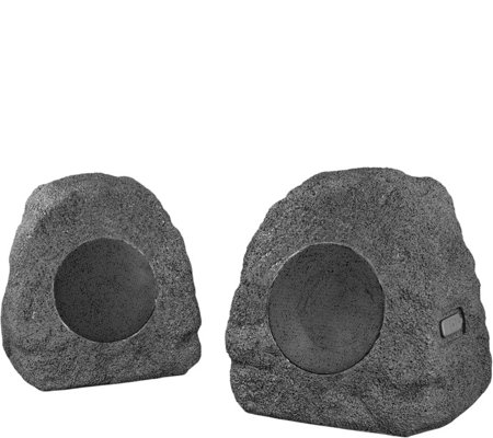 Innovative Tech Set of 2 Bluetooth Outdoor Rock Speakers