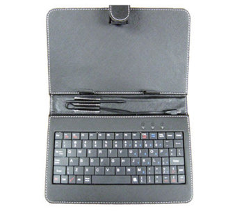 "7"" Android Tablet Keyboard w/ Mini USB, Case, and Style Pen - E272604"