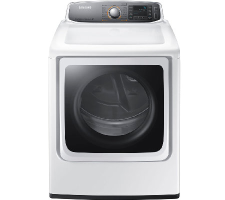 Samsung 9.5 Cu. Ft. Electric Dryer w/ Steam Technology - Whit