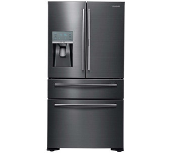 Samsung 22 Cu. Ft. French Door Refrigerator - Black Stainless - E288704