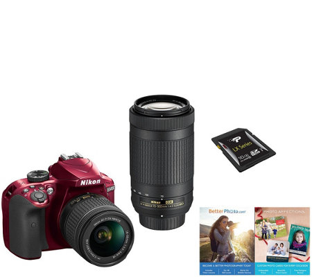 Nikon D3400 Dual Lens DSLR Camera Kit - 18-55mm& 70-300mm