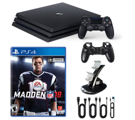 PS4 1TB Pro Console with Madden NFL 18 andAccessories