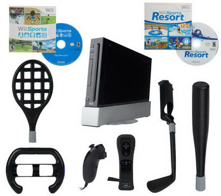 Nintendo Wii Sports Resort Bundle w/Motion Plus Controller & Accessories