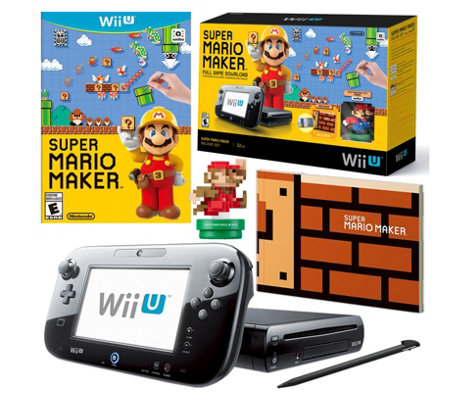 Wii U Mario Maker Bundle with Classic Mario amiibo