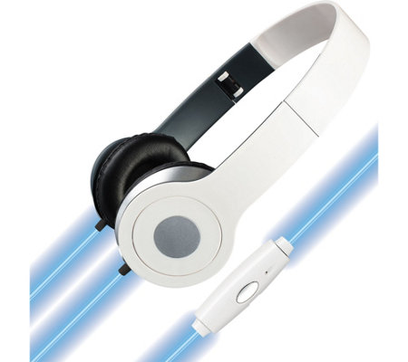 iLive Headphones with Illuminated Cables & Microphone