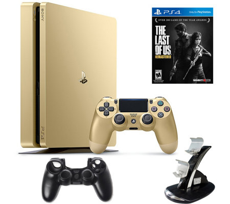 Sony PlayStation 4 Slim 1TB Gold LE Bundle w/The Last of Us