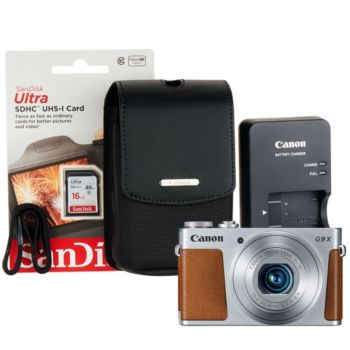 Canon Powershot G9X Mark II Digital Camera 16GB SD Card and Carry Case