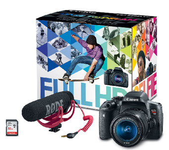 Canon EOS Rebel T6i Digital Camera & Video Creator Kit - E285106