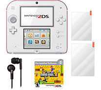 Scarlet Red Nintendo 2DS with New Super Mario Bros. 2 - E292406