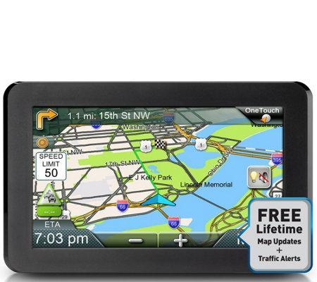 "Magellan 7"" RoadMate GPS w/ Lifetime Map Updates and Traffic Alerts"
