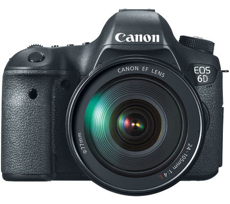 Canon EOS 6D 20.2MP DSLR Camera w/ EF 24-105m mLens