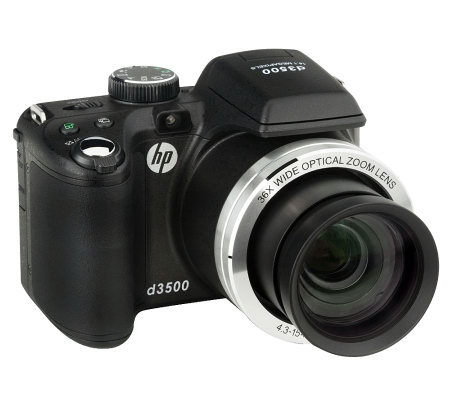 "HP D3500 14MP, 36 Optical Zoom Digital Cameraw/3"" LCD"