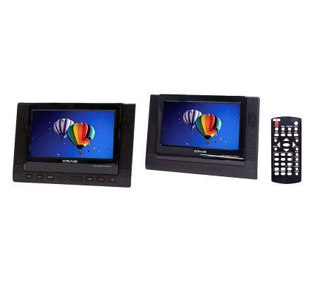 "Craig 7"" TFT Dual Screen Portable DVD Player"