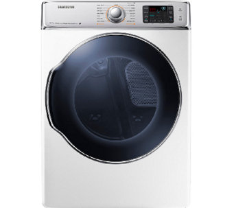 Samsung 9.5 Cubic Foot Electric Dryer w/ Dual Heaters - White - E277908
