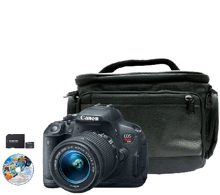 Canon EOS Rebel T5i 18 MP DSLR Camera, Lens, Case & Software