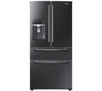 Samsung 25 Cu. Ft. French Door Refrigerator - Black Stainless - E288708