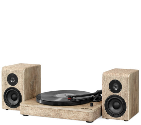 Innovative Technology Victrola Wood Bluetooth Turntable