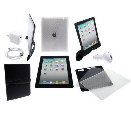 Apple iPad 2 32GB Wifi with Case, Stand Headphones and iHorn Amplifier
