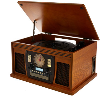 Aviator Recordable 8in1 Wooden Music Center with Bluetooth