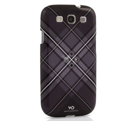 White Diamonds Grid Samsung Galaxy S3 Case
