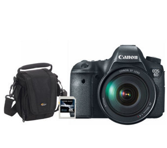 Canon EOS 6D 20.2MP Wi-Fi DSLR Camera w/ EF 24-105mm Lens - E267609