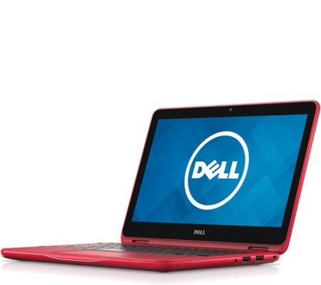 "Dell 11"" 2-in-1 Red Touchscreen Laptop - 4 GB RAM, 500 GB HDD"
