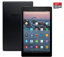 "Amazon Fire 10"" HD Tablet 32GB w/ Custom Case, Amazon Vouchers & 32GB MicroSD - E232010"