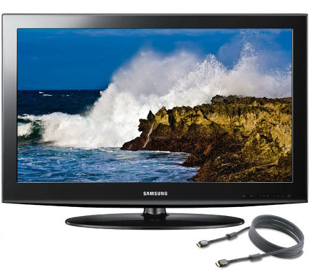 "Samsung 32"" Class LCD HDTV with 6 ft. HDMI C able"